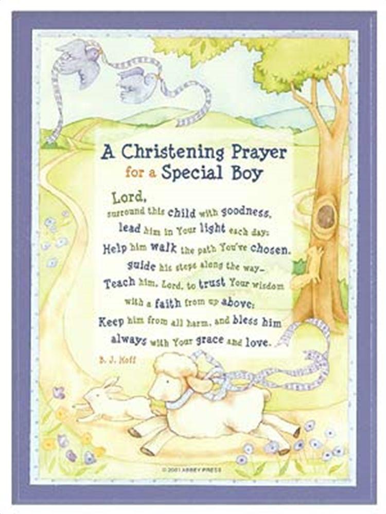 Christening Prayer Plaque Boy Christening Baby Boy Christening