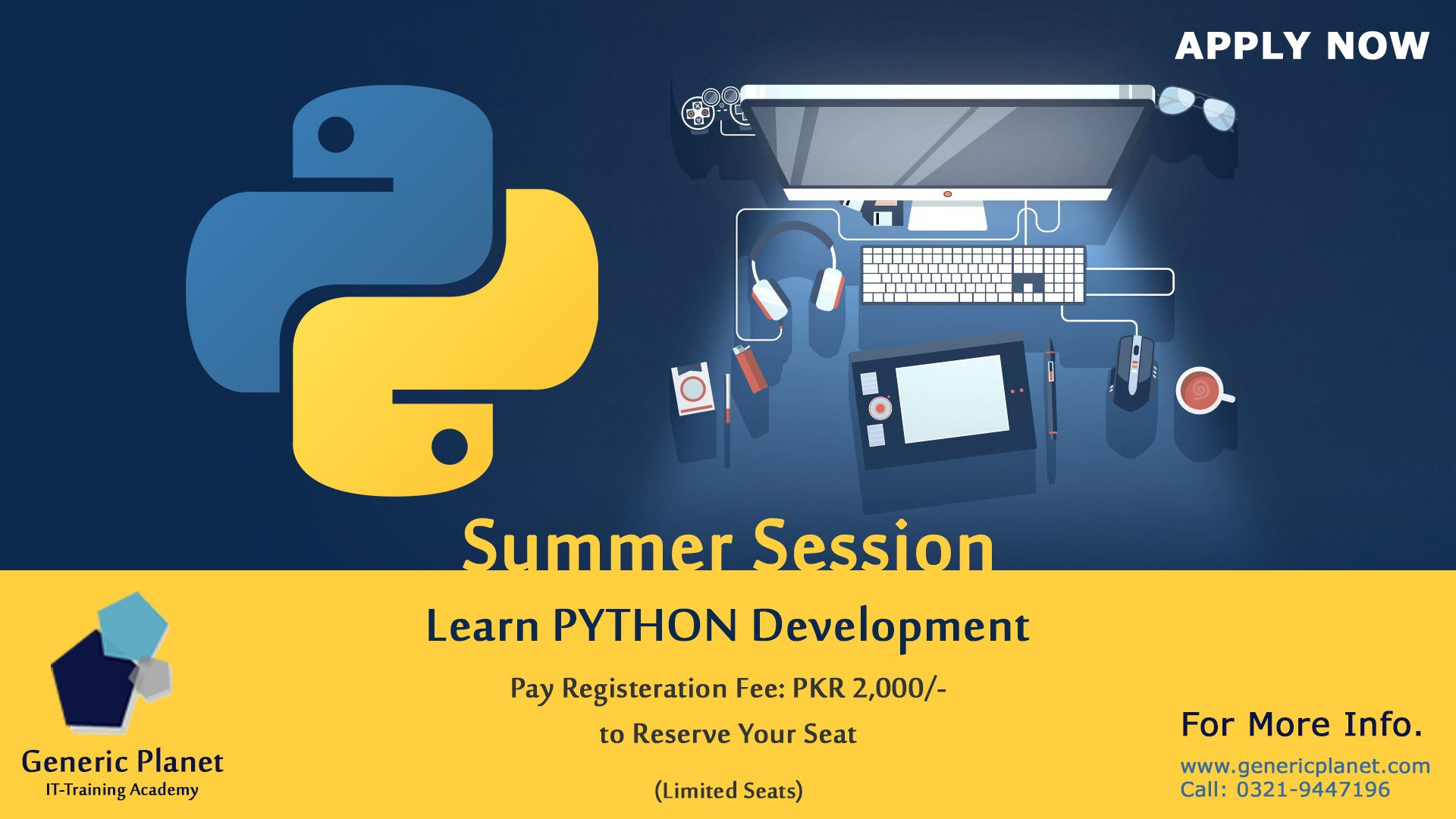 SummerTraningSession #PythonDevelopment Registration Link