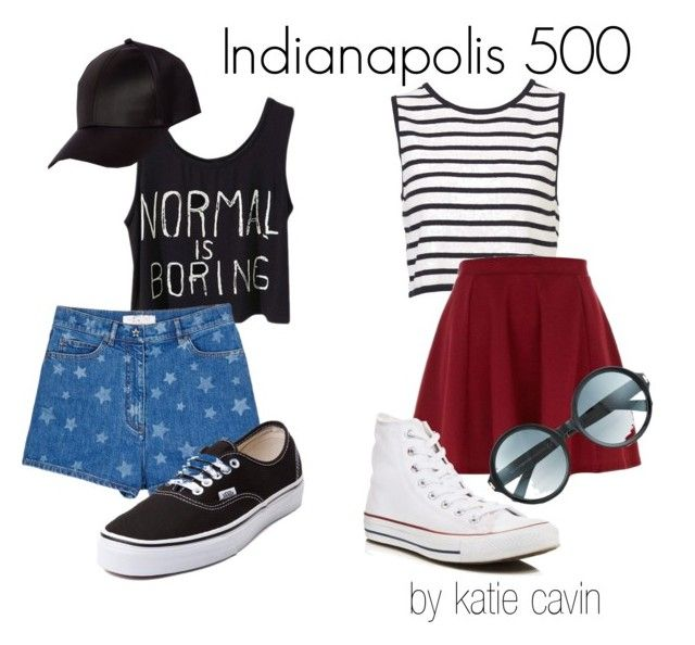 If you're looking to stay cute and stylish at the Indy 500 or even in the Snake Pit, then here are two outfits for you.