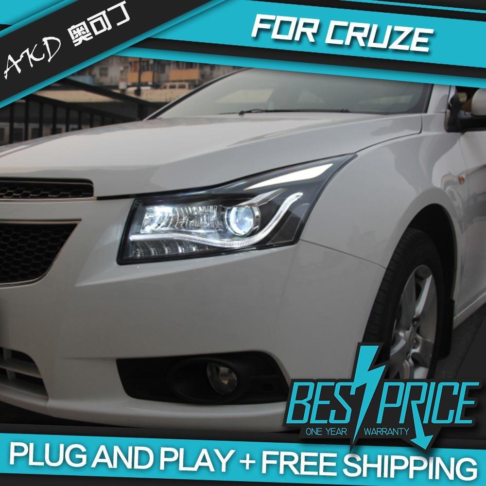 Akd Cars Styling Headlight For Chevrolet Cruze Sedan 2009 2014