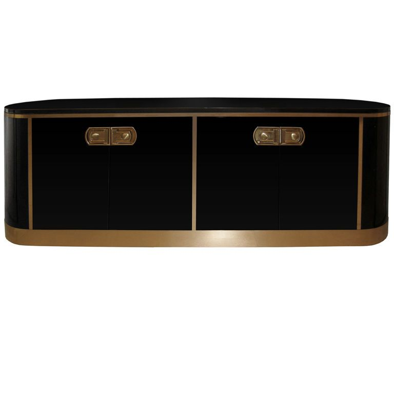 Mastercraft Oval Black Lacquer and Br Credenza | Credenza ... on oval bassinet, oval shelves, oval dining room set, oval mirror, oval bench, oval vanity, oval furniture, oval commode, oval rug, oval closet, oval lighting, oval dresser,
