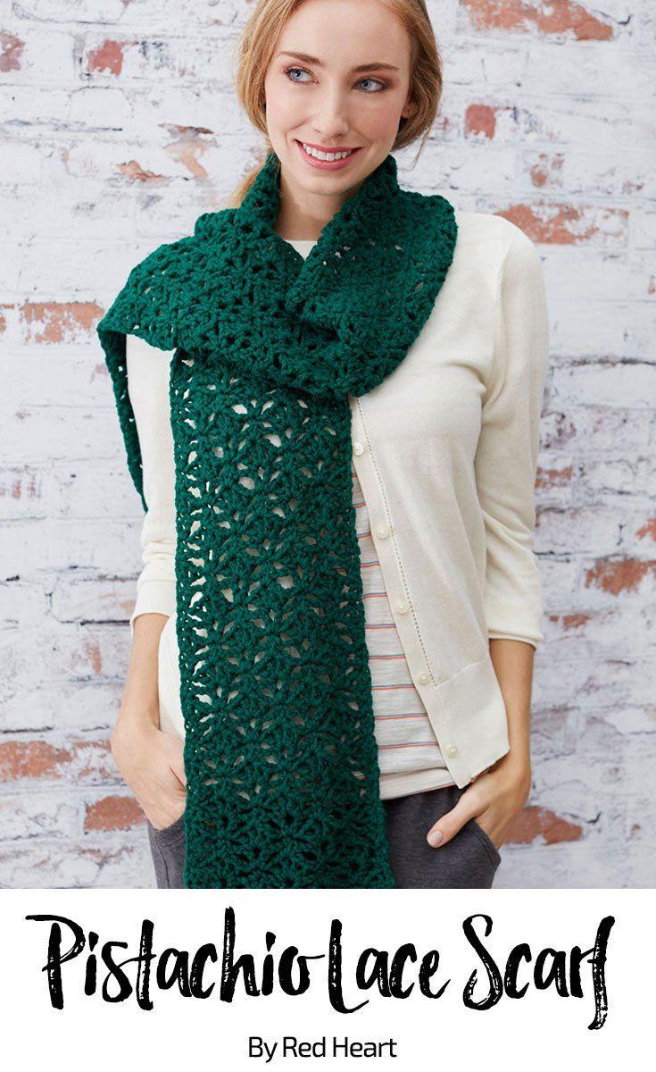 Pistachio Lace Scarf free crochet pattern in With Love. | Crochet ...
