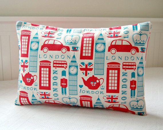 London cushion cover UK red bus Big Ben Union Jacks decorative