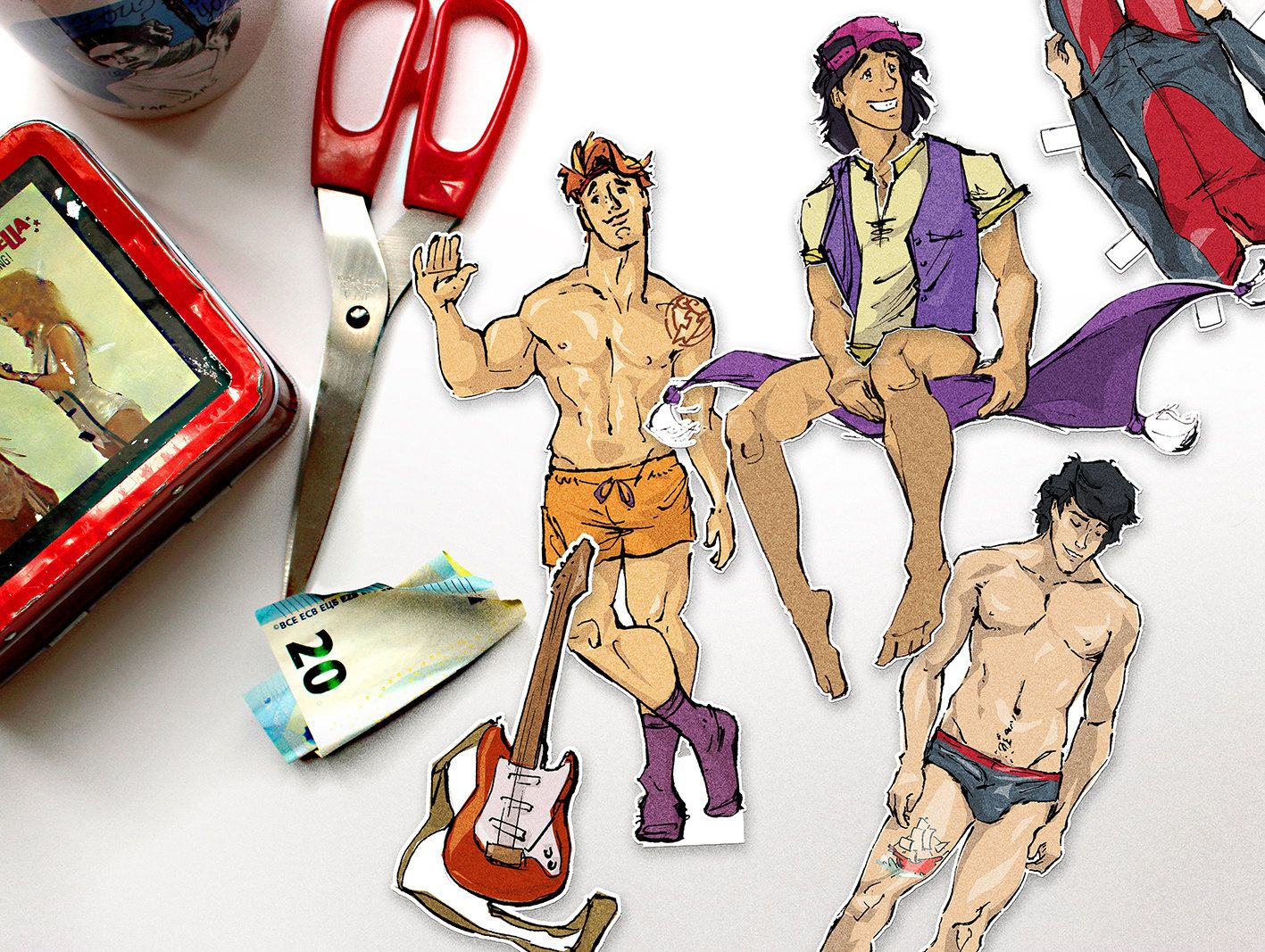 from Ty gay paper dolls