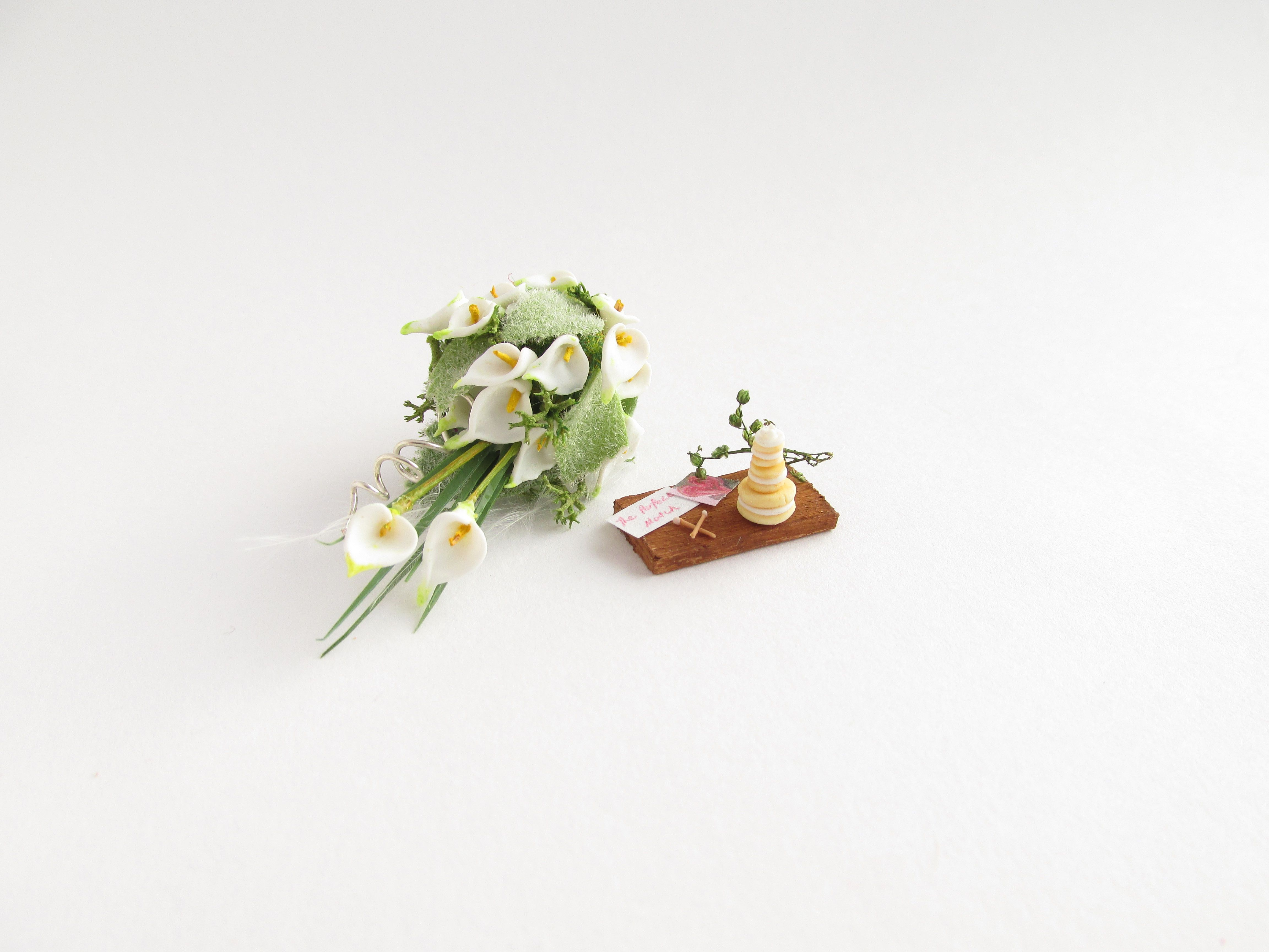 Beautiful calla lily wedding bouquet and some tempting sugary ...