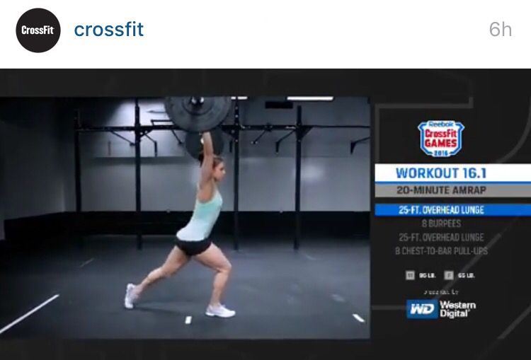 Cossfitgames2016 Theopen 16 1 Wod Crossfit Open Workout Overhead Lunges