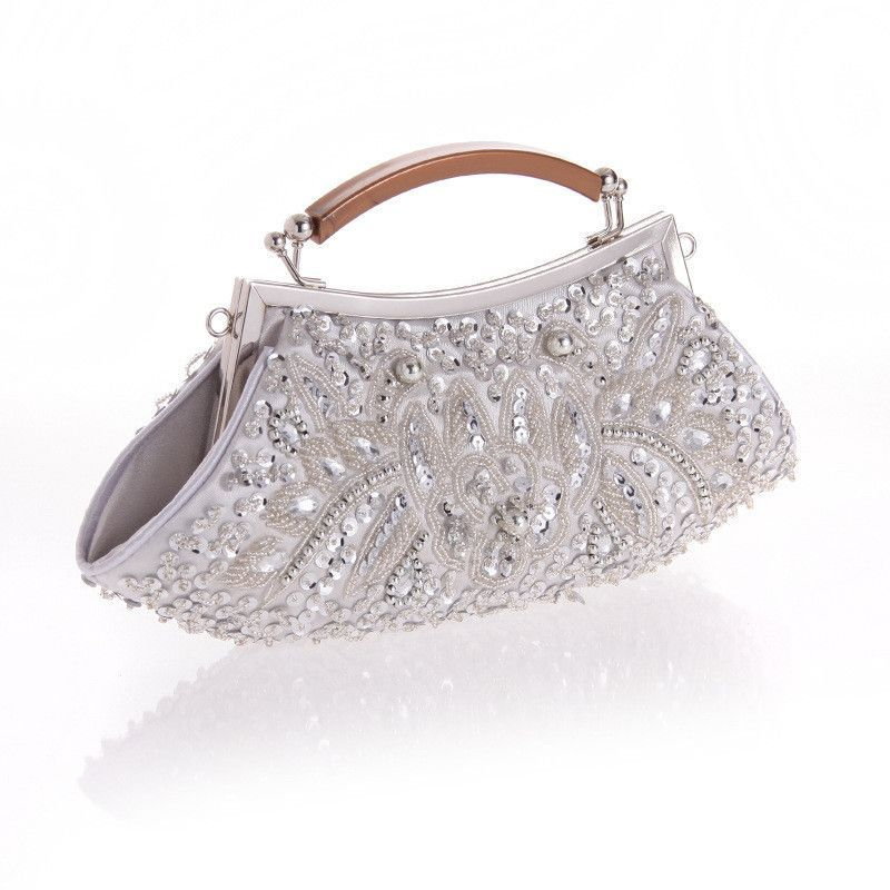 02534c59dad NEW beaded women evening bags clutch purse wedding evening bag pearl purse