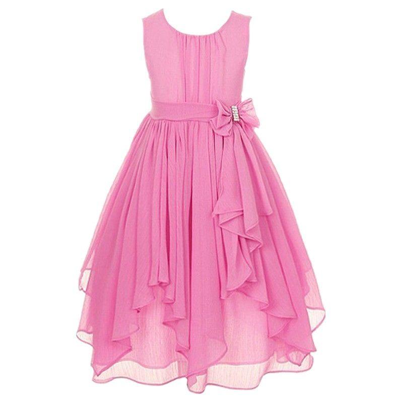 Cheap 2017 muchachas de flor vestido de verano irregular gasa con ...