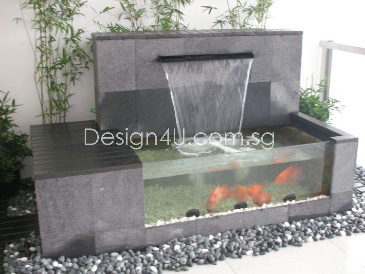 Singapore Koi Pond Water Feature Fiberglass Swimming Pool