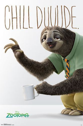 Disney Quotes Iphone 5 Wallpaper Zootopia Flash Movie Poster 22x34 Disney Sloth 14649