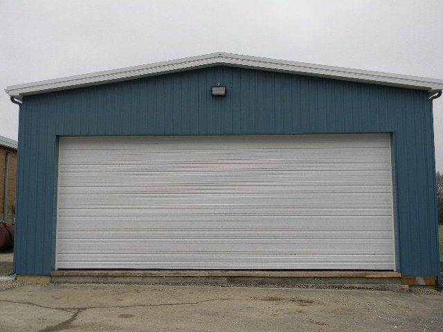 Commercial Jobsite Circleville Oh Erected Entire Pole Barn Large Garage Door Installation With Automatic Opening Smith Homestead Garage Door Installation