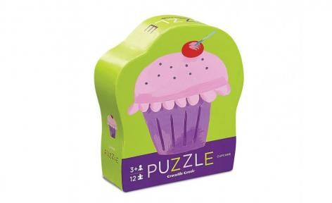 Cupcake Mini Shaped Box Puzzle by Crocodile Creek