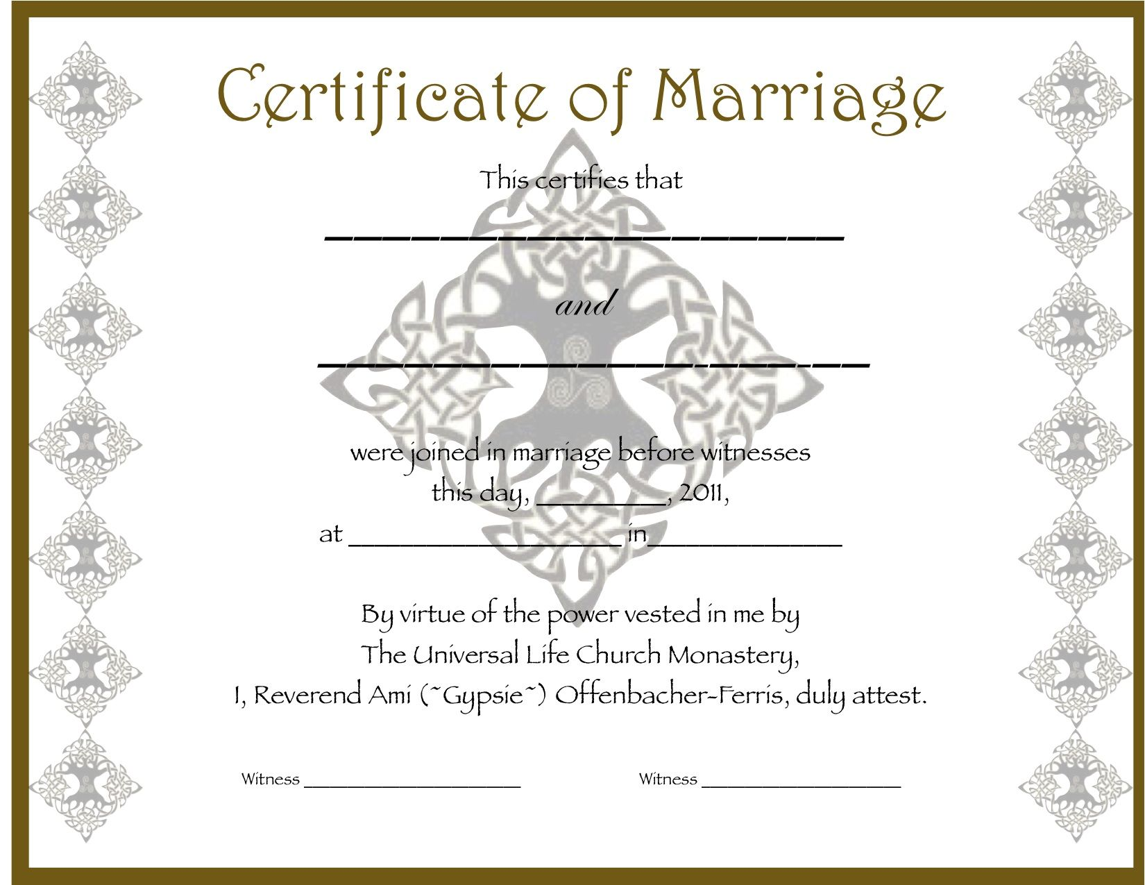 Marriage certificate marriage stuff pinterest certificate marriage certificate yadclub Choice Image