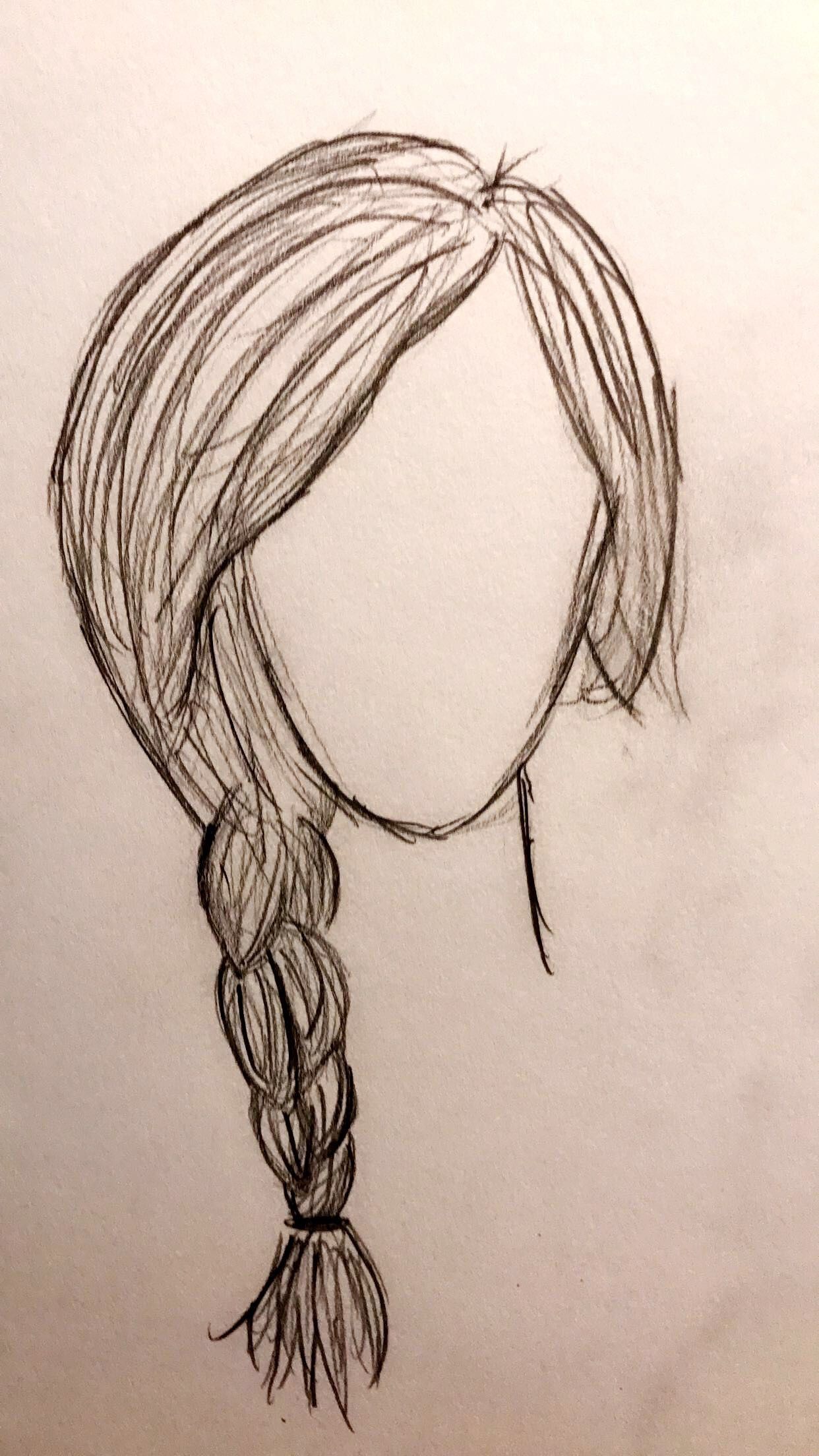 2 minute drawing #braids #drawings #easy | How to draw ...