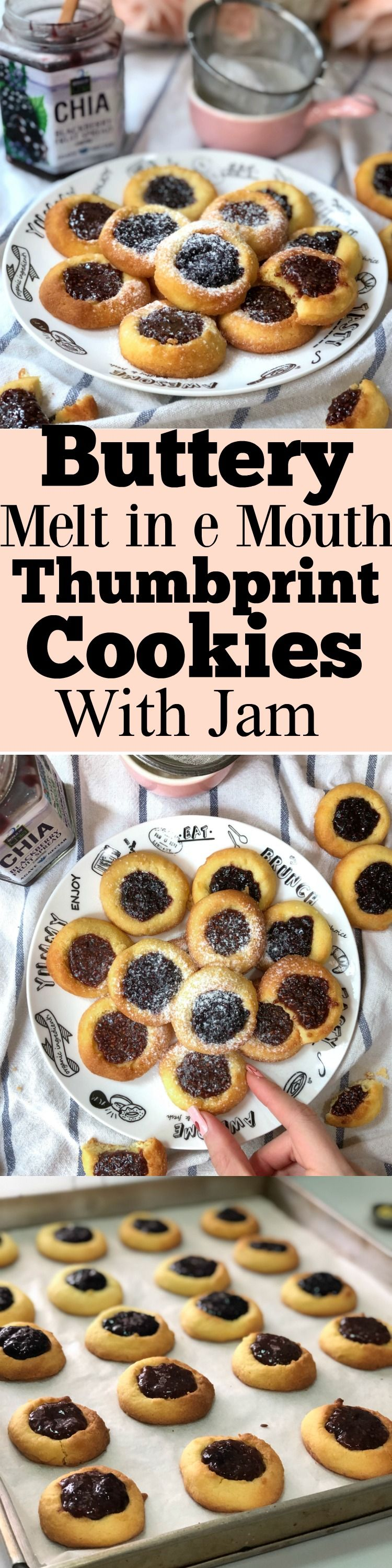 Easy Jam Thumbprint Cookies - Buttery and Delicious - Sherbakes