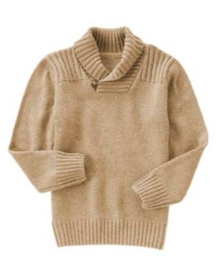 GYMBOREE HOLIDAY SHINE CAMEL SHAWL COLLAR DRESSY PULLOVER SWEATER ...