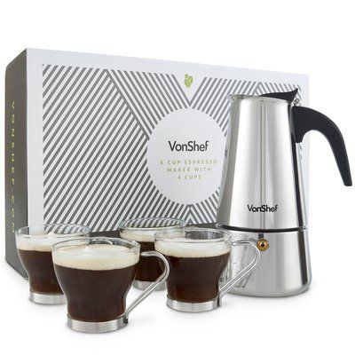 VonShef VonShef 6-Shot Espresso Maker #espressomaker