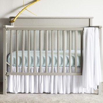 Pretty White Pleated Crib Skirt Cribs Ruffle Crib Skirt Crib Accessories