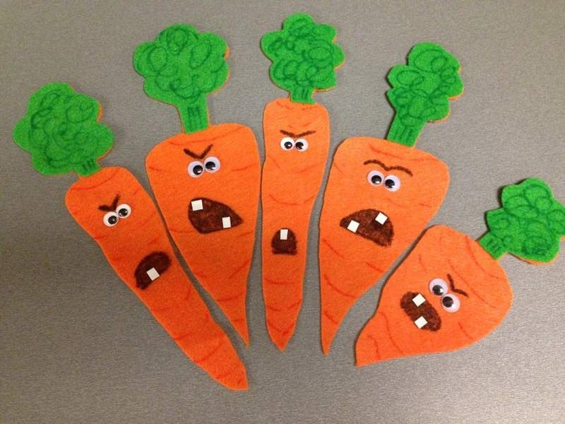 5 Creepy Carrots Flannel With Fingerplay Rhyme And Template