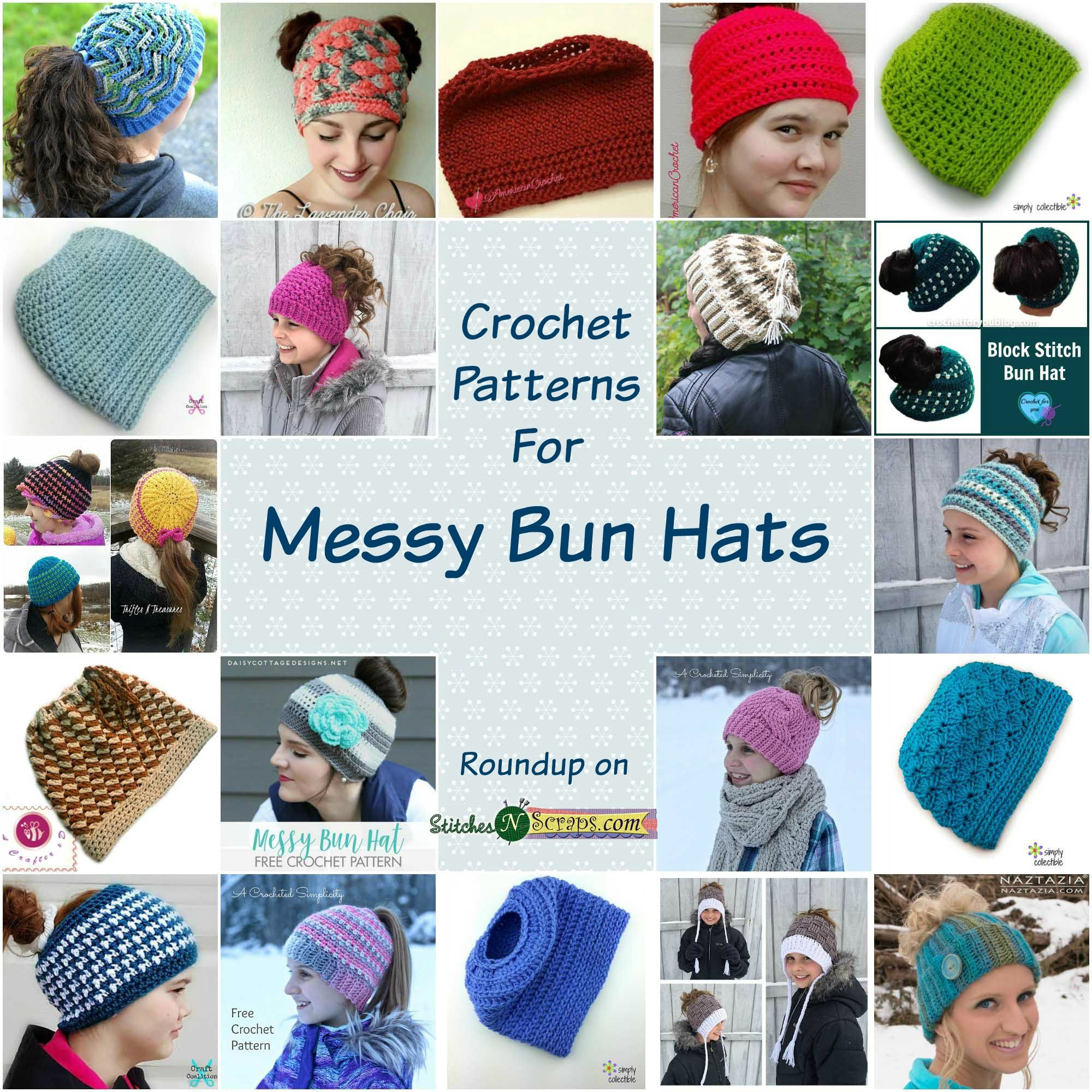 f41e32828d5 The messy bun ponytail hats have been popping up everywhere this week! In  case it has you itching to make one