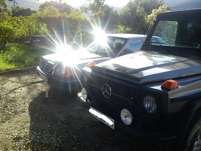 Mercedes Benz G and Mercedes Benz 300D