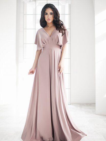 Нежное вечернее длинное платье в пол в 2019 г.   to buy a4f55340ddf