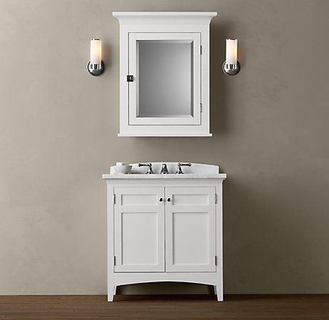 Cartwright Single Vanity Sink White Traditional Bathroom Vanities And Consoles Restoration Hardware