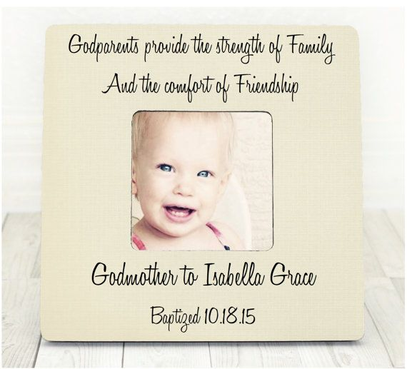 Baptism Frame Christening Frame Godparent Gift Godparent Frame for ...