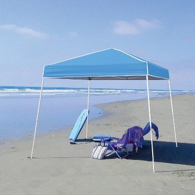 Z Shade 10 X 10 Angled Leg Instant Canopy Tent Portable Shelter Carolina Blue Affiliate Leg Instant Angled Instant Canopy Canopy Tent Shade Canopy