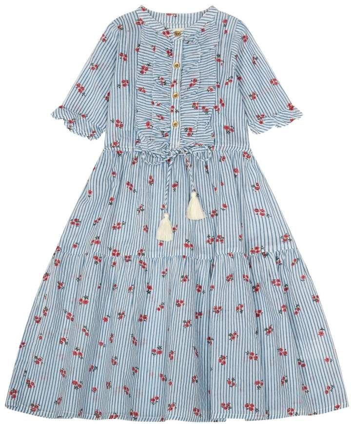 8fa756dd0 SIMPLE KIDS Lolly Floral Striped Maxi Dress  affiliate