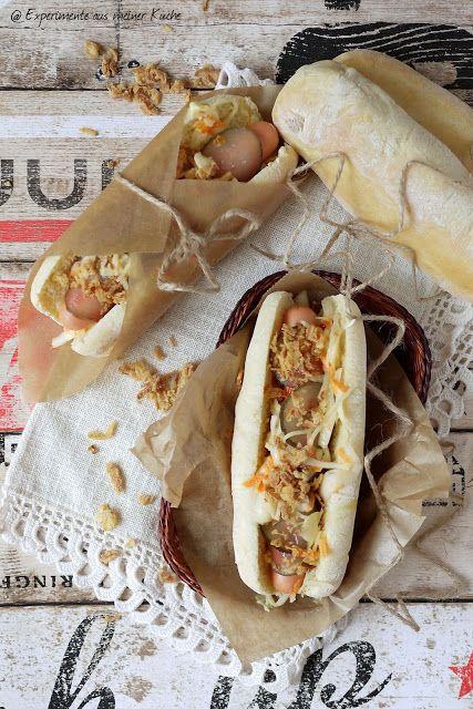 Selbstgemachte hot dogs mit coleslaw experimente aus for Kuchen schmidbauer