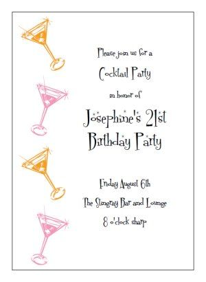 Printable Cocktail Party Invitation Templates Print And Make Your - Cocktail party invitation template