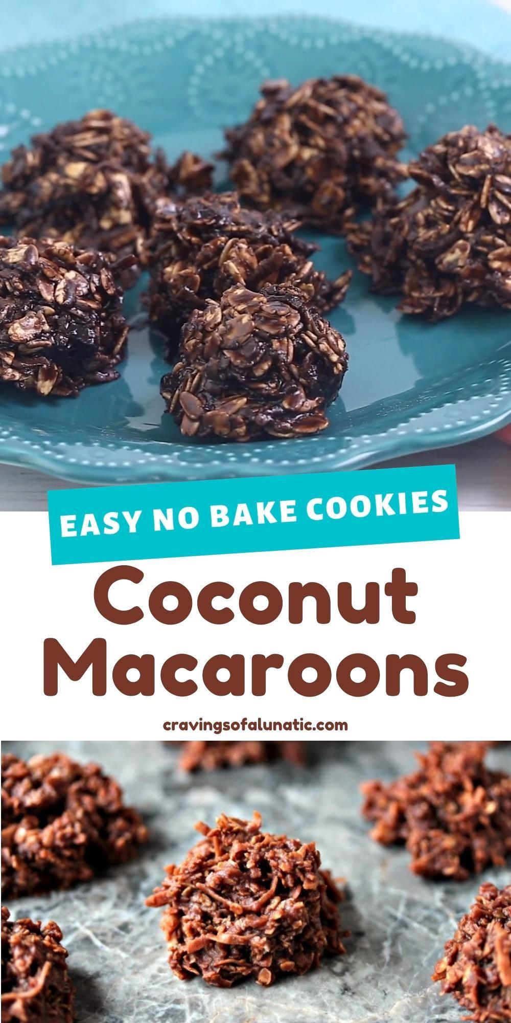 No Bake Coconut Macaroon Cookies - Cravings of a L