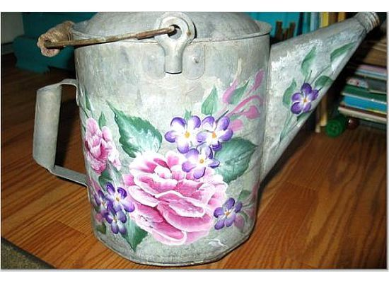 metal watering can by jo