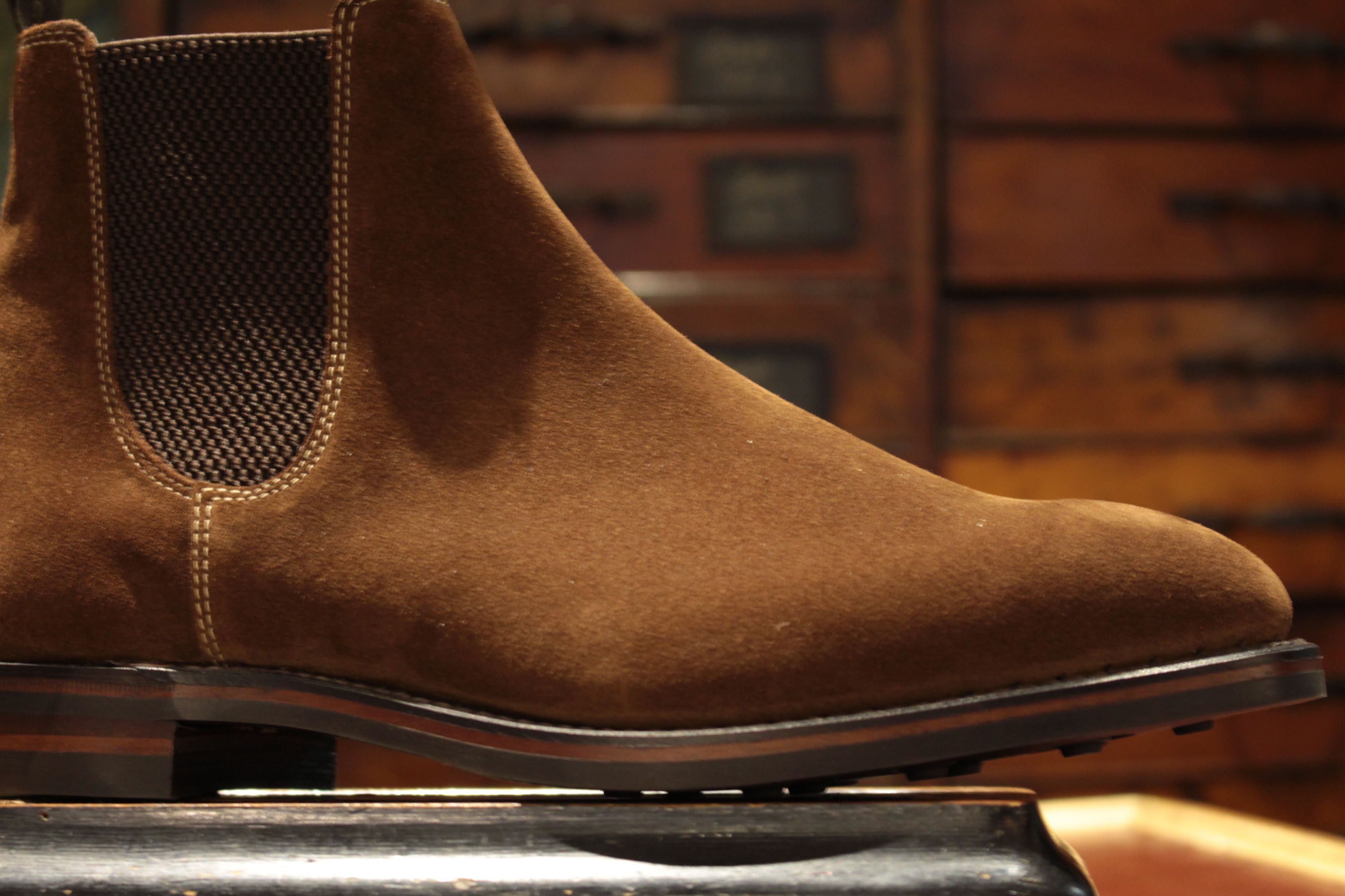 1e62a9d83d9 Loake Chatsworth Chelsea boot. Brown suede and Goodyear welted ...