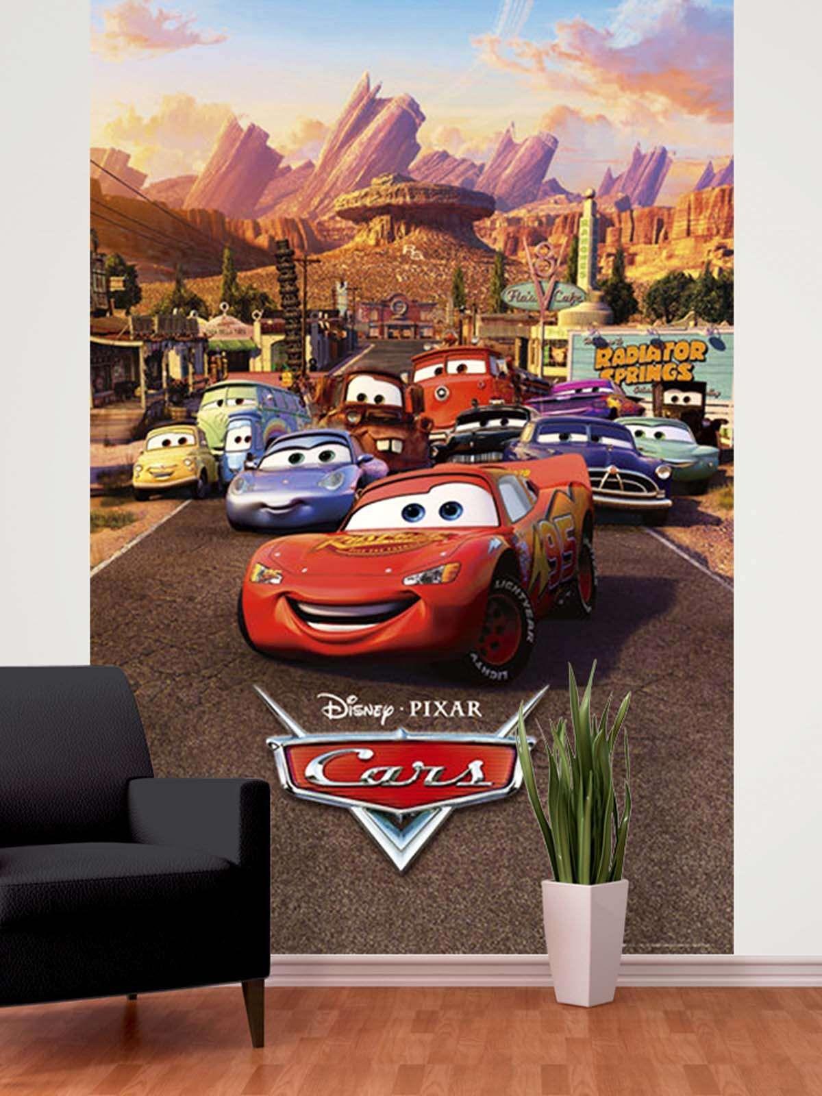 Disney Cars Easy Hang Wallpaper Mural Cars Mural Disney Cars Disney Pixar Cars [ 1600 x 1200 Pixel ]