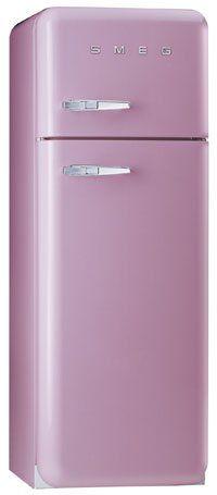 Smeg Fab30qro 60cm 50 S Style Freezer Over Fridge Pink Right Hand Hinge Purple Kitchen Purple Love Smeg