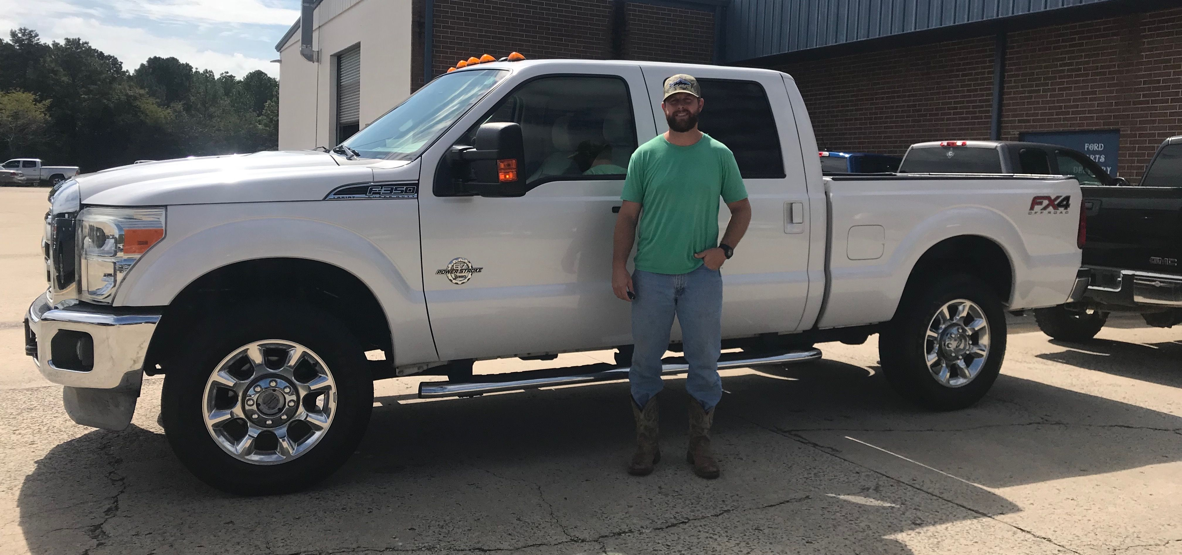 congratulations evan brown of dalton ga on your cool new 2012 f 350 lariat sold by jared langham and brian smith we apprec car ford ford news things to sell pinterest