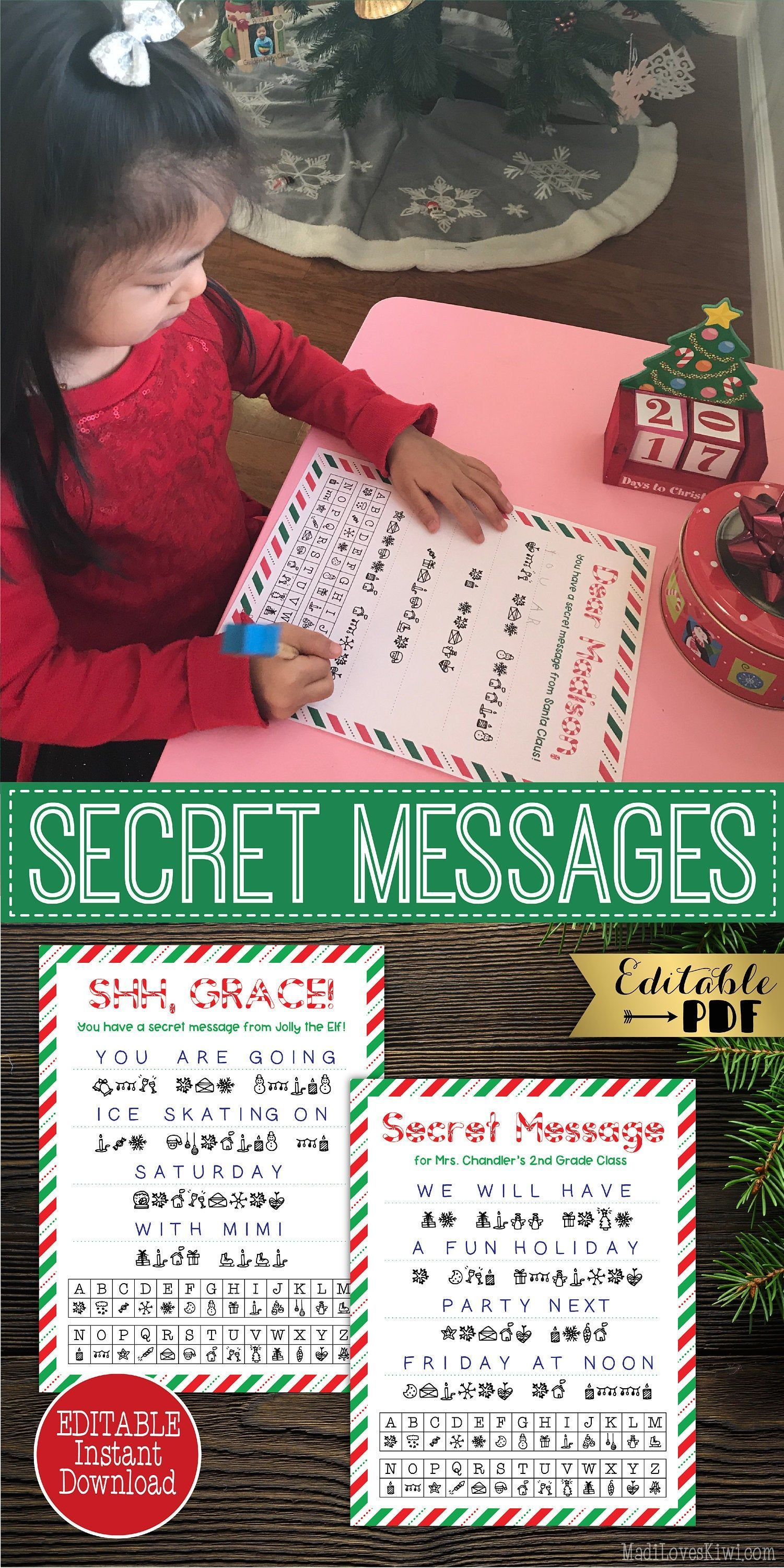 Terrific Images Editable Christmas Secret Message Puzzles