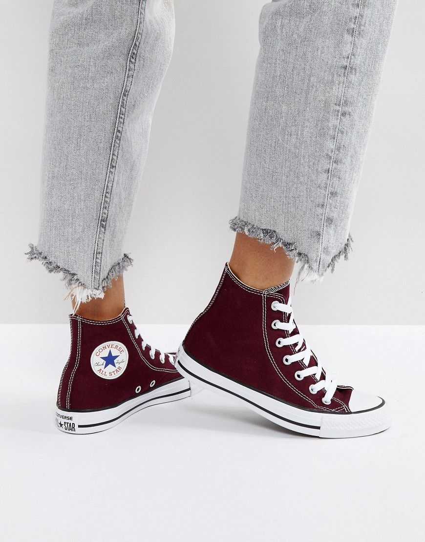 Usual verdad infierno  Buy it now. Converse Chuck Taylor All Star Hi Top Trainers In Burgundy -  Red. Traine… | Zapatos converse de mujer, Zapatos nike para damas, Zapatos  tenis para mujer
