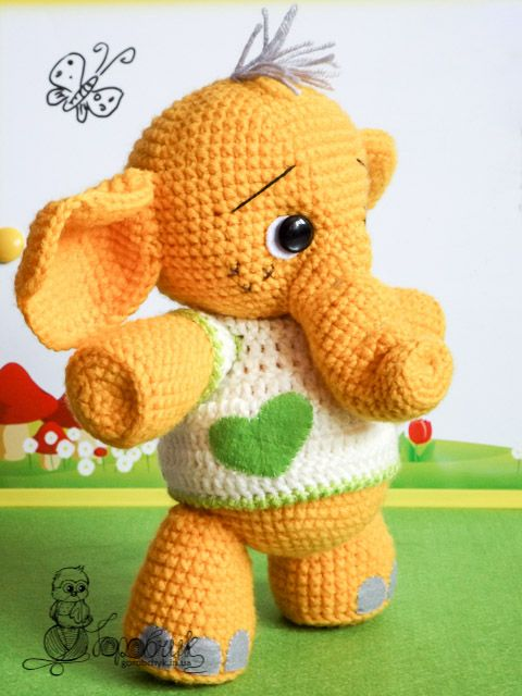 Elephant Tommy- google translate | free pattern crochet | Pinterest ...