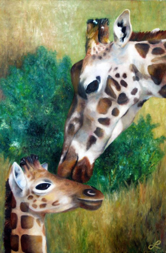 Print Of Original Oil Panting Mother And Baby By Naturaldetails1
