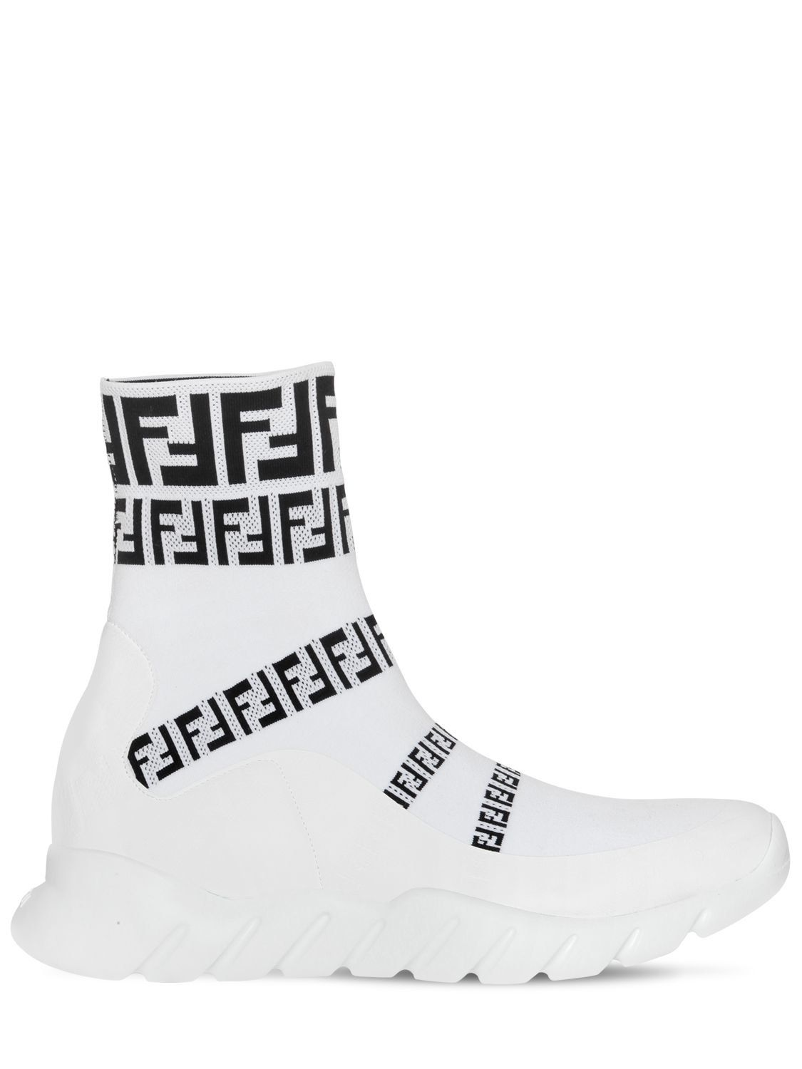 39d6c40be FENDI FF SIGNATURE SOCKS SNEAKER. #fendi #shoes # | Fendi in 2019 ...