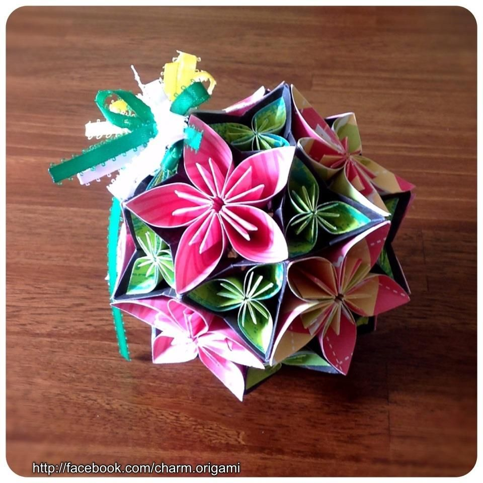 Pink N Yellow Bouquet Ball Origami Pinterest Yellow Bouquets