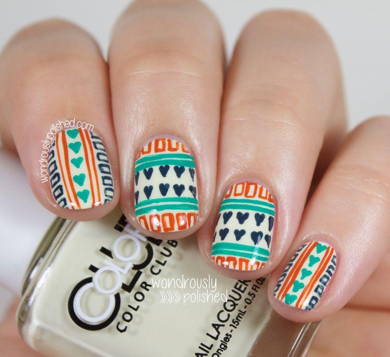 NAGG - Day 13: Hearts | Nail nail, Exotic nails and Nail stripes