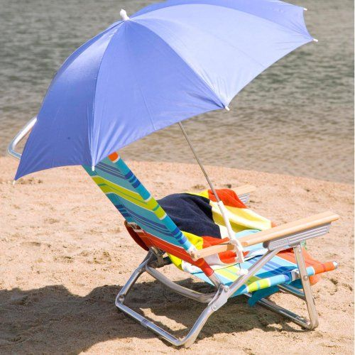 Find it at the Foundary - Blue Clamp-On Beach Umbrella - 1