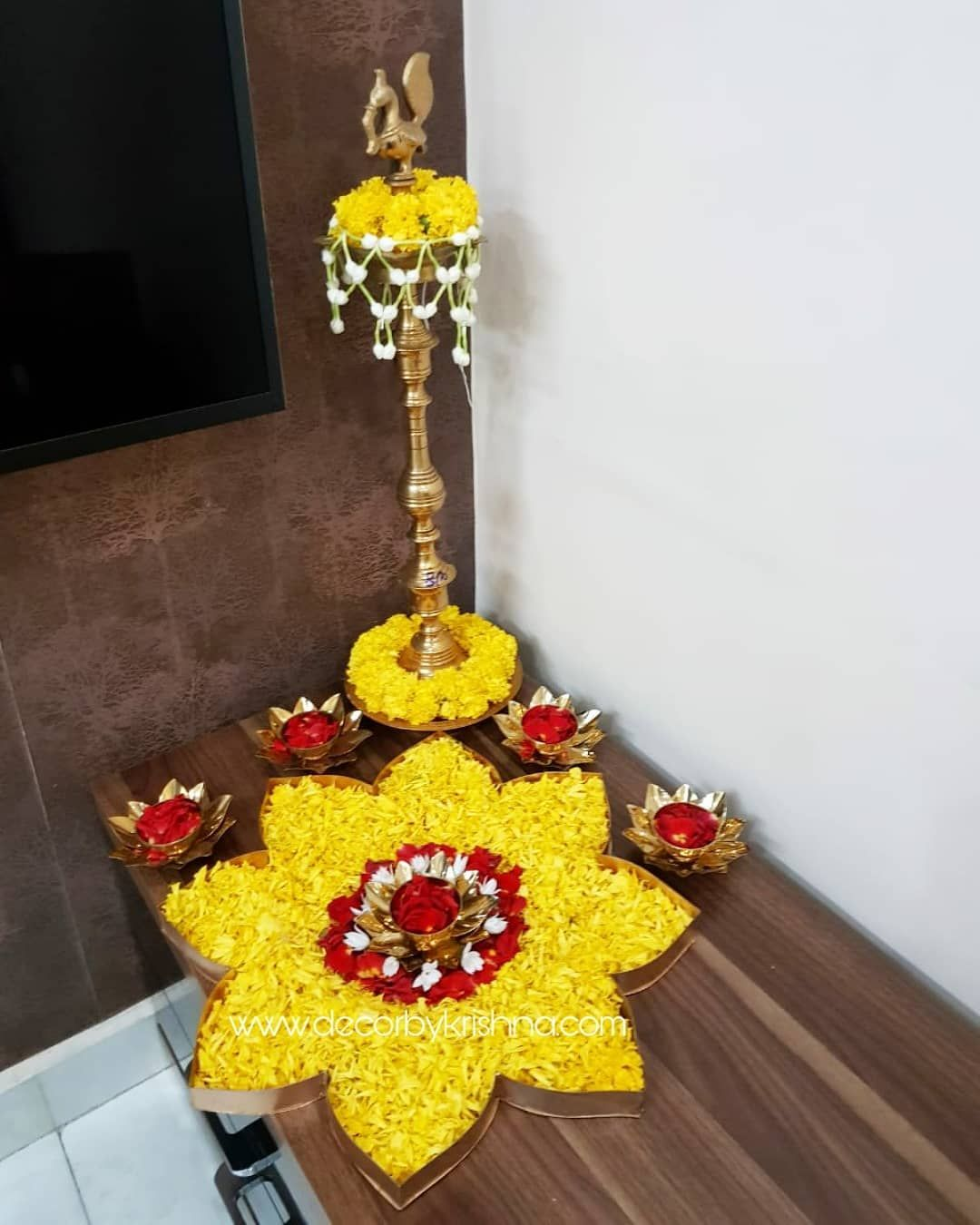 Diwali Special Flowers Rangoli Design in 2019 Rangoli