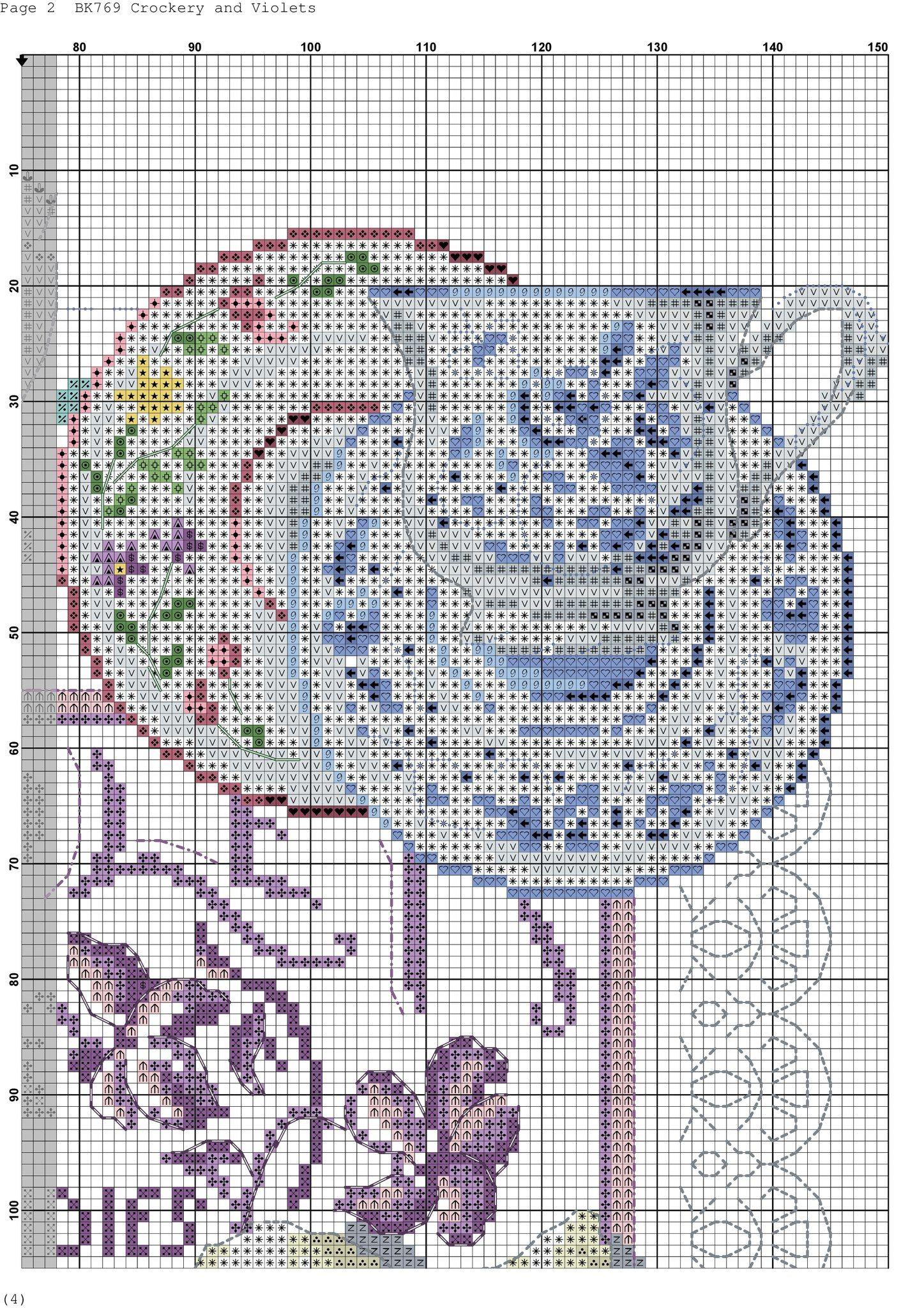 DMC BK769 Crockery and Violets VERONIQUE ENGINGER | Вишивка ...