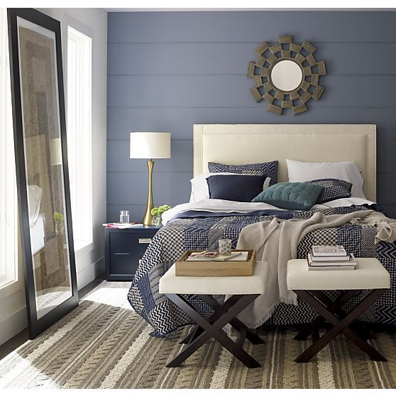 Aman Bed Linens And Border Headboard Crate And Barrel