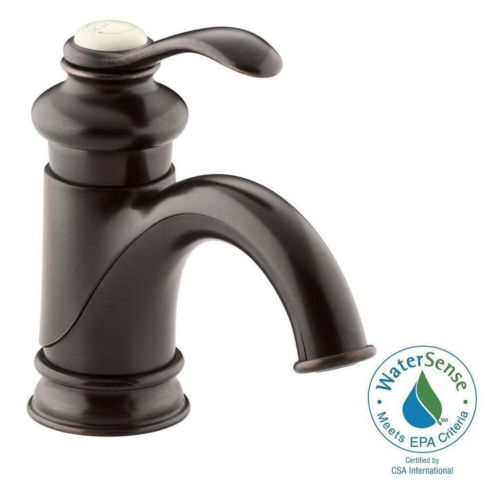 Kohler Fairfax Single Hole Single Handle Mid Arc Bathroom Vessel